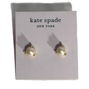 NWT Kate Spade New York Pearl and Gold Earrings